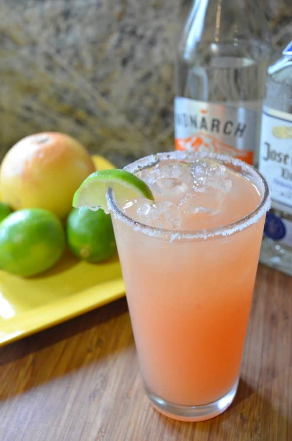 Pink Grapefruit Lime Margaritas from Serena Bakes Simply From Scratch are the perfect cocktail recipe for Cinco de Mayo.