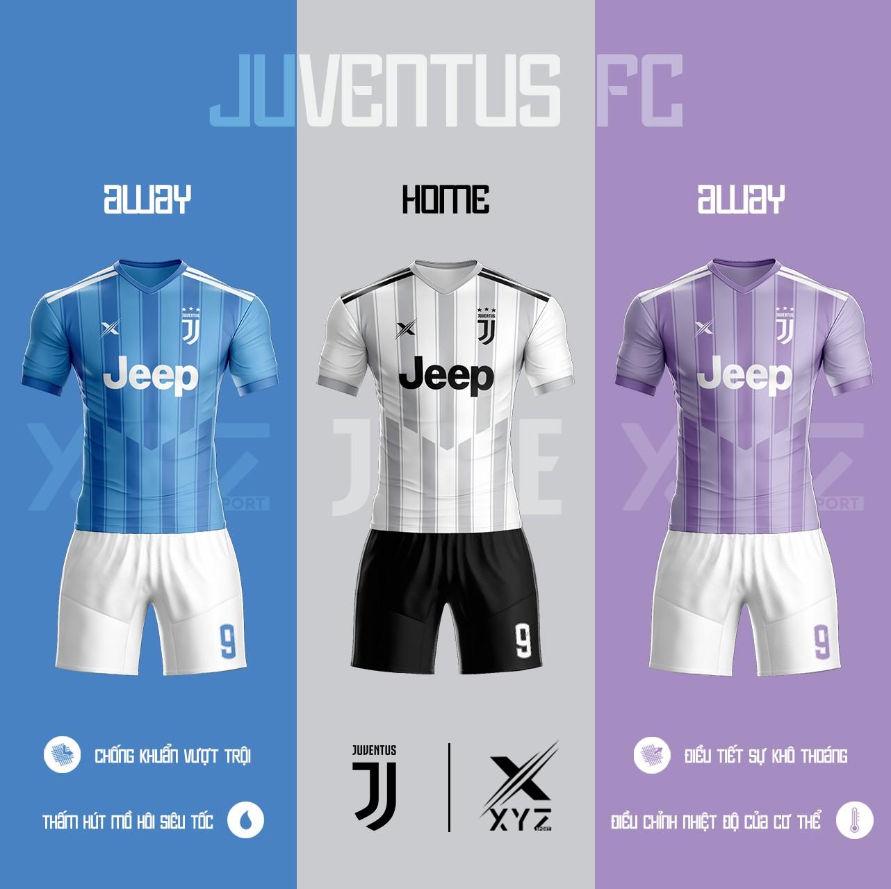 Áo Đấu Bóng Đá Juventus Tự Thiết Kế Đẹp Và Độc - Mã JU01