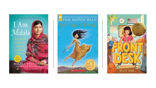 Image of Middle Grade Novels: I Am Malala, Esperanza Rising, and Front Desk