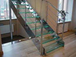 Glass and Metal Staircase