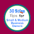 30 Sales Tips for Small / Medium Business Owners #infographic