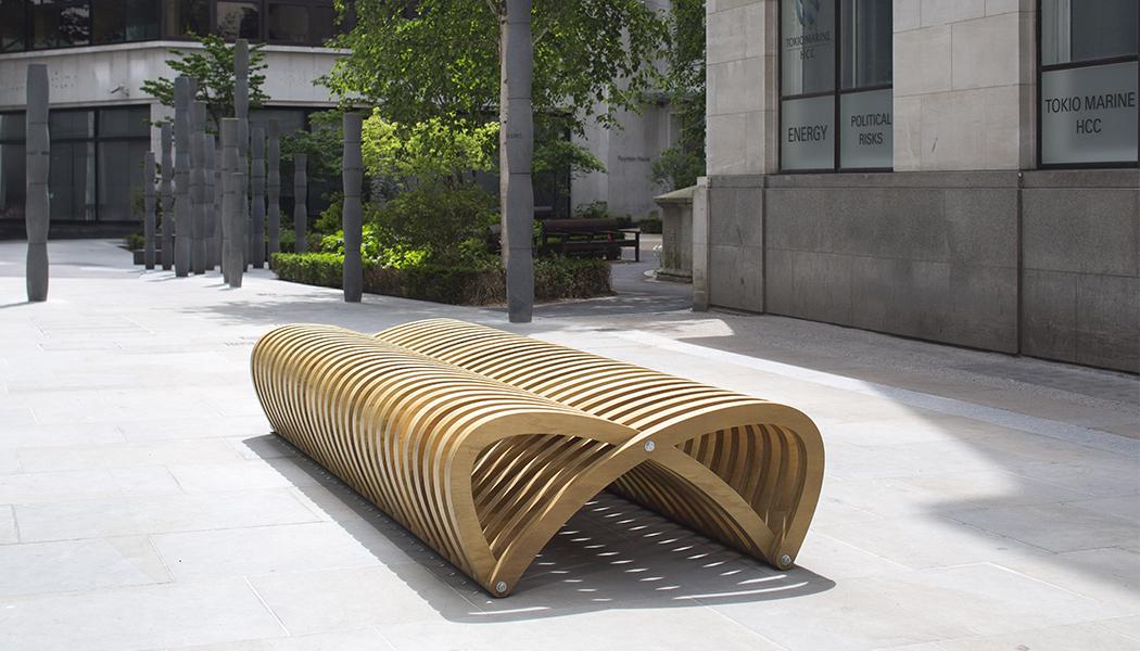 Ławka włoska nowoczesny design dwustronna do miasta deptak