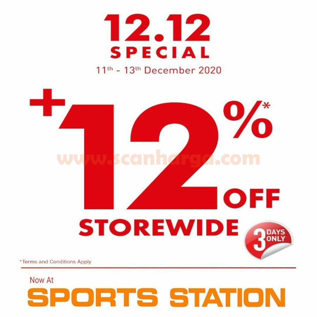 Sports Station Promo 12.12 Special +12% Off (STOREWIDE)