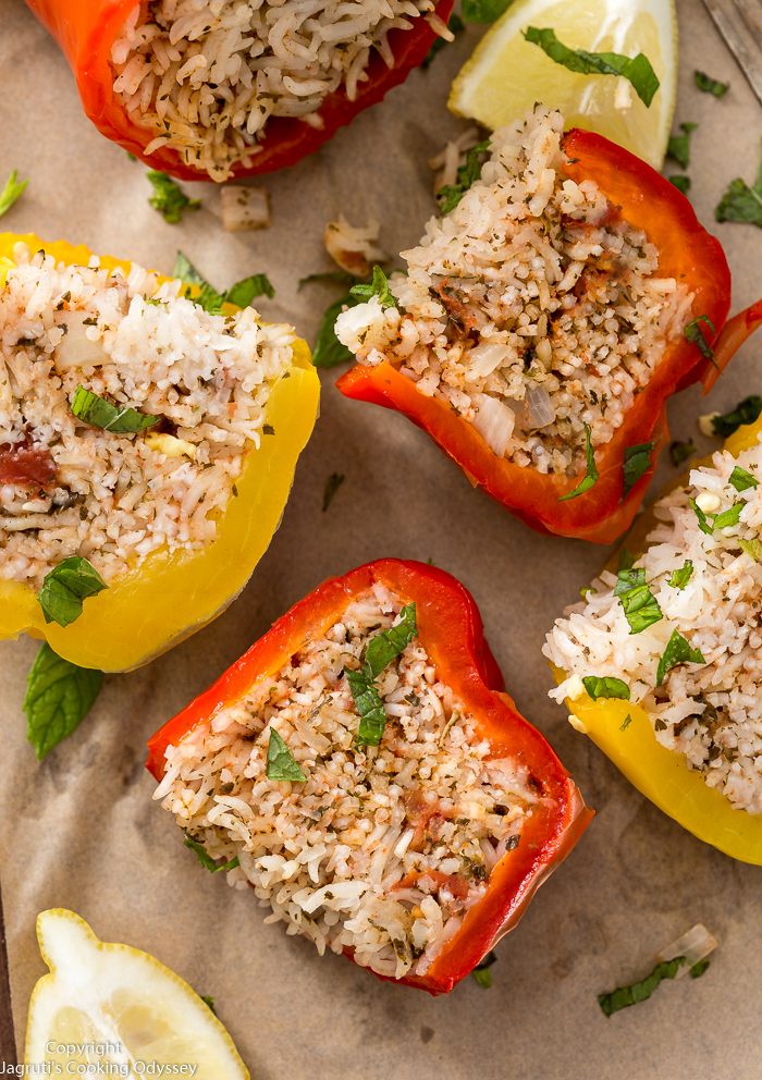 serving suggestion for stuffed peppers