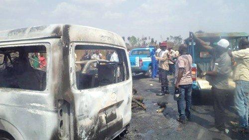 Four burnt to death ,14 hospitalised in Ondo road crash