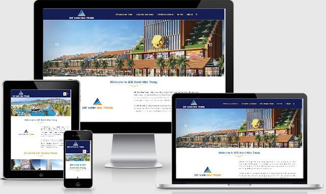 Template blogspot bất động sản website tổng Đất Xanh Nha Trang - Ảnh 1