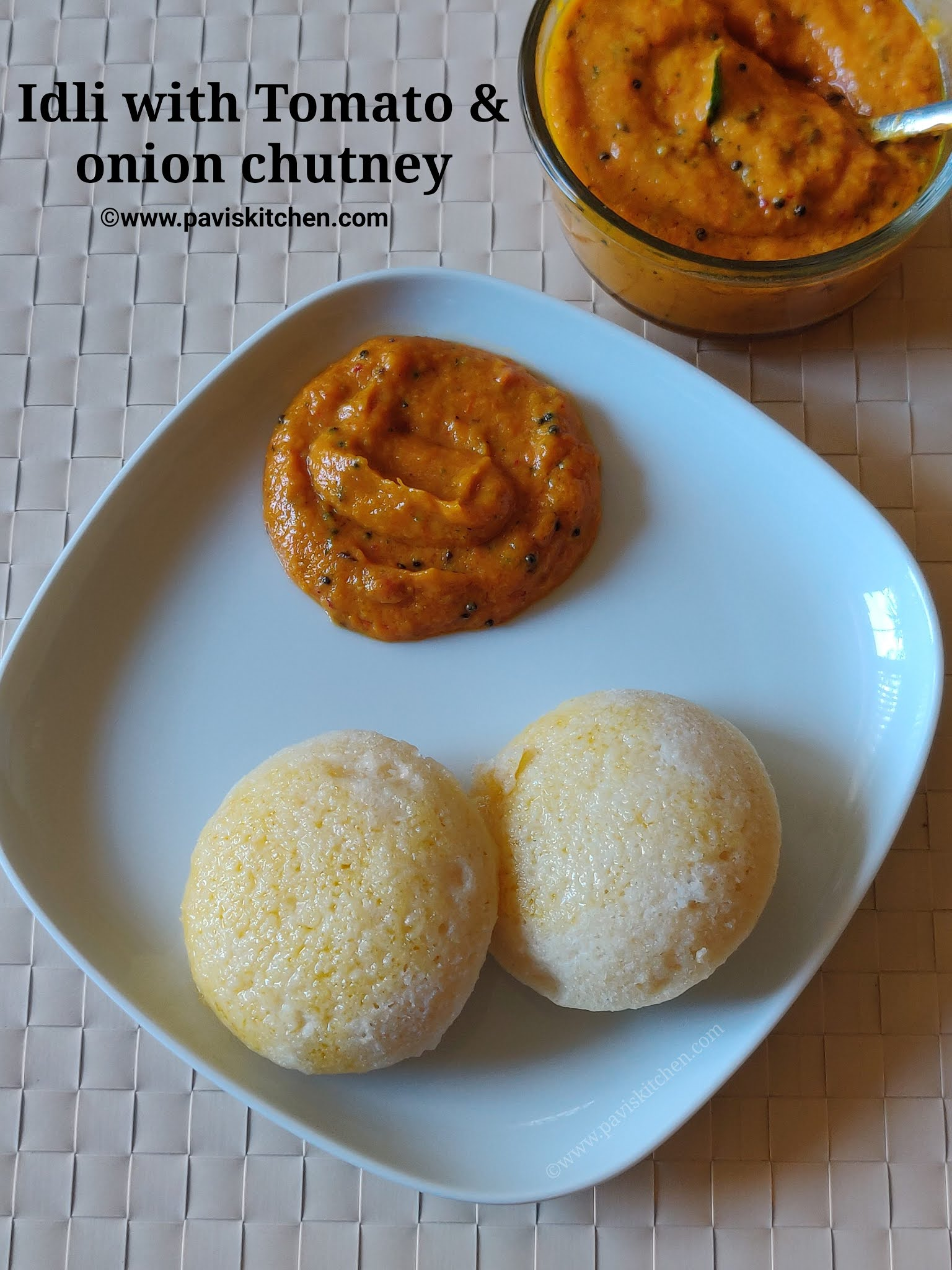 Onion tomato chutney recipe | Tomato onion chutney recipe | South Indian Thakali vengaya chutney