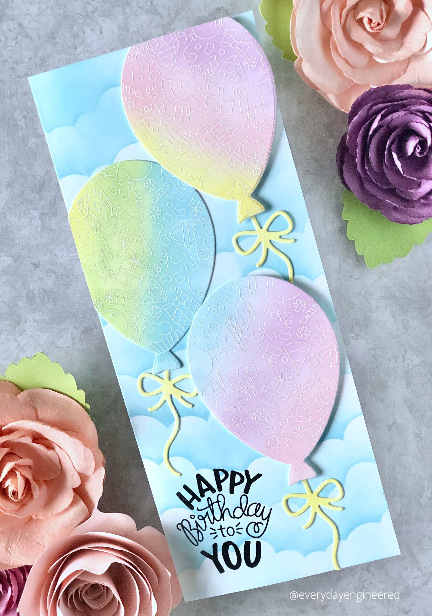 Pretty in Pastel Birthday Cards by October Guest Designer Farhana S | Balloon Shaker Die Set by Newton's Nook Designs #newtonsnook