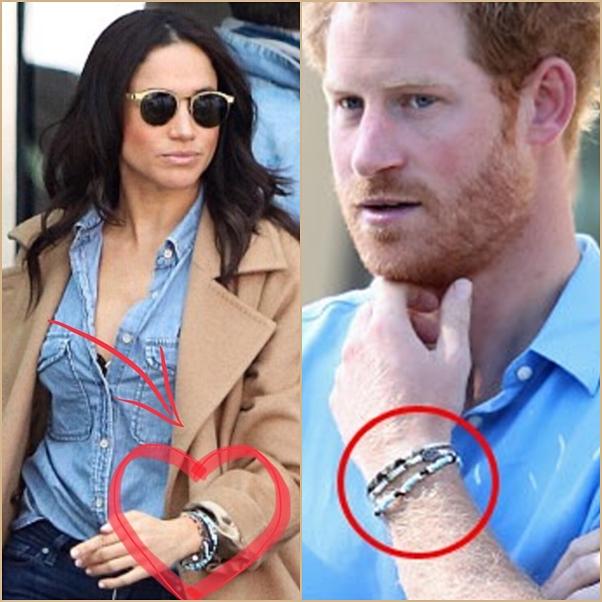 pulseira de compromisso Príncipe Harry e Meghan Markle