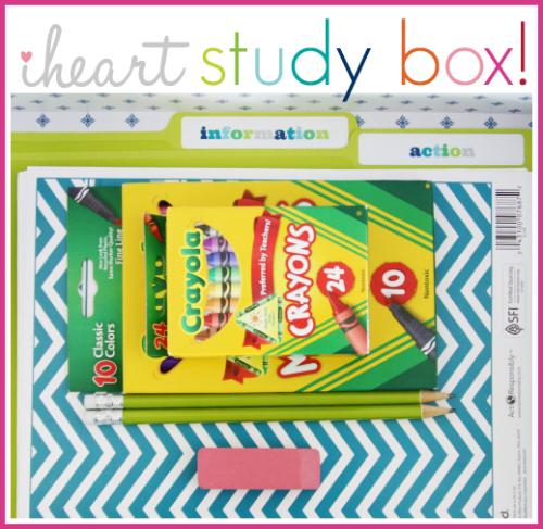IHeart Organizing: A Superstar Study Box