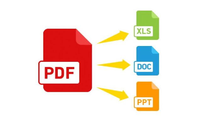 تحويل ملفات PDF الى word و Excel