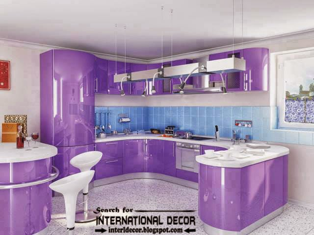 how to choose and apply kitchen colors 2016, purple and lilac kitchens
