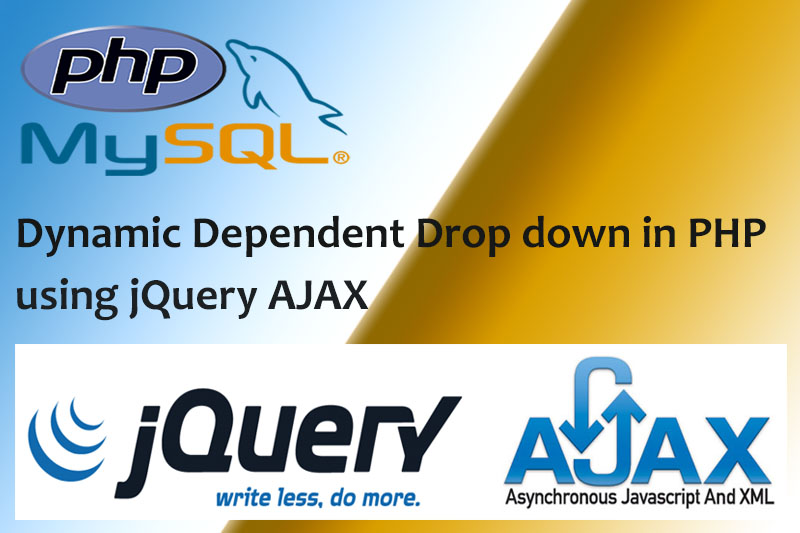 Dynamic Dependent Drop down in PHP using jQuery AJAX