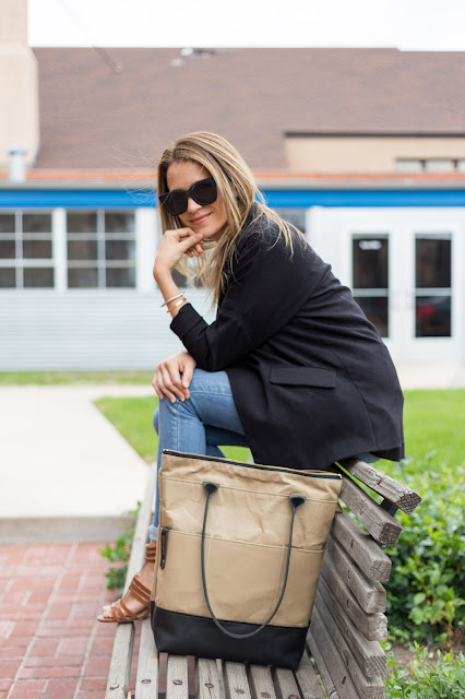 Everyday Essentials: Oversized Blazer, Jeans and Large Tote