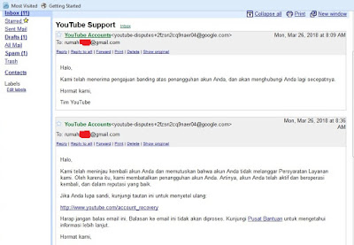 Cara Menghidupkan Suspended Channel Youtube (Channel Ditangguhkan)