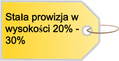 20% - 30% od zarobków poleconych.