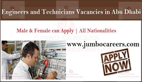 Current Job Vacancies in UAE, Available jobs in Abu Dhabi,
