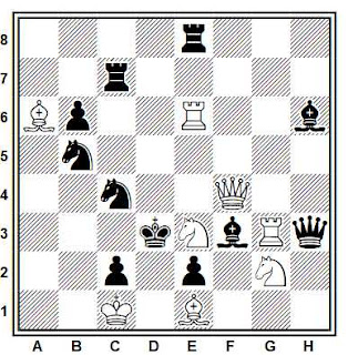 Problema de mate en 2 compuesto por Francisco Novejarque (1º Premio, SEPA 1945)