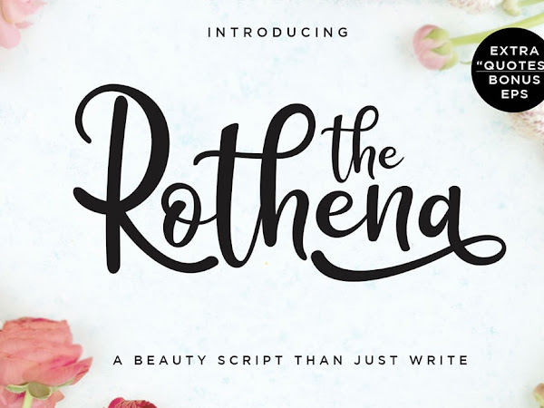 Rothena Calligraphy Font Free Download