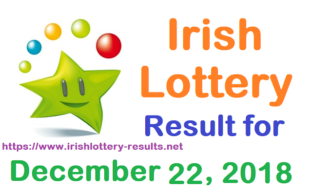 Irish Lottery Result for Saturday, 22 December 2018