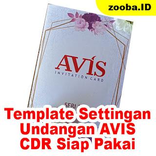 Download CDR Blanko Undangan Avis