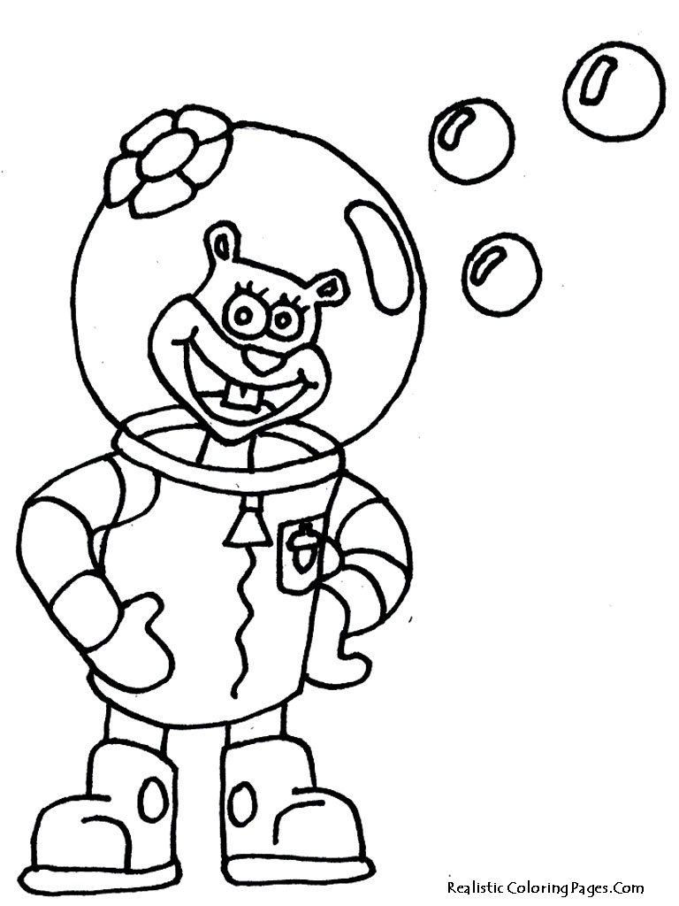 Spongebob coloring pages realistic coloring pages for Coloring page spongebob