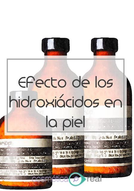 Efecto de los alfa hidroxiácidos  en la piel