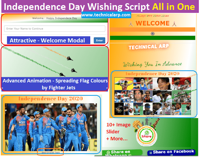 Independence Day Wishing Script Download Blogger
