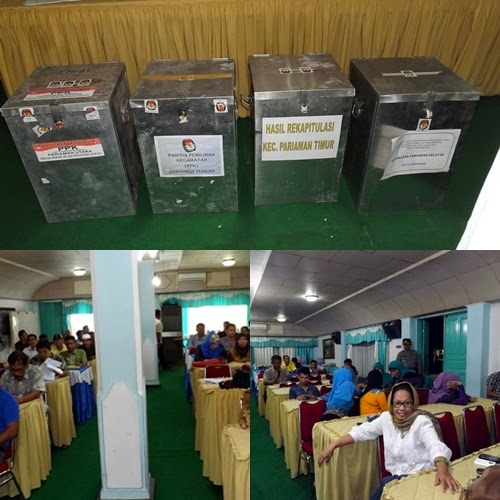 Aman & Lancar KPU Kota Pariaman Tetapkan Hasil Pileg 2014