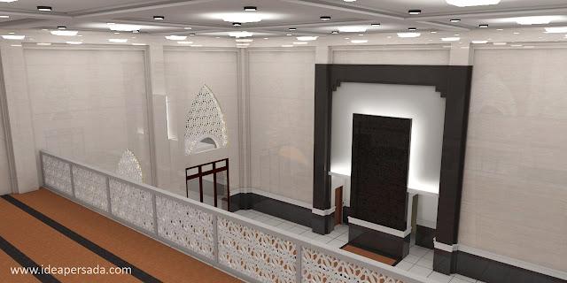 jasa desain masjid mewah minimalis