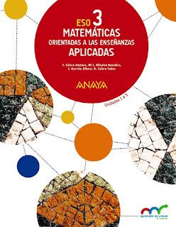 Libro Matemáticas Orientadas a las Enseñanzas Aplicadas 3º ESO Anaya Proyecto Aprender es Crecer