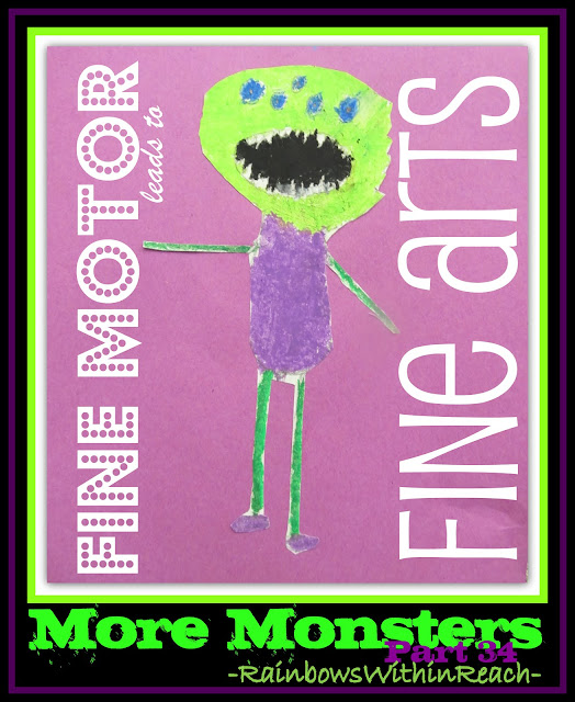 "photo of: Fine Motor Leads to Fine Arts Part 34, ""More Monsters"" via RainbowsWithinReach"