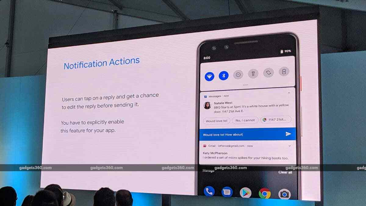 Android Q to Bring Bubble Notifications, Quick Replies, and Other Big New Features  Google engineers and product managers have held several talks at Google I / O, disclosing new details about user experience and security improvements that are coming to Android Q.  android q new features bubble notifications quick replies security google, google io, google io 2019, android, android