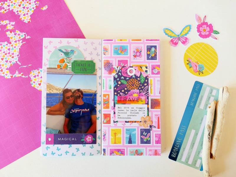 Cattura i ricordi estivi su un Traveler's Notebook | TN spread Process Video | Romanticherie Design Team