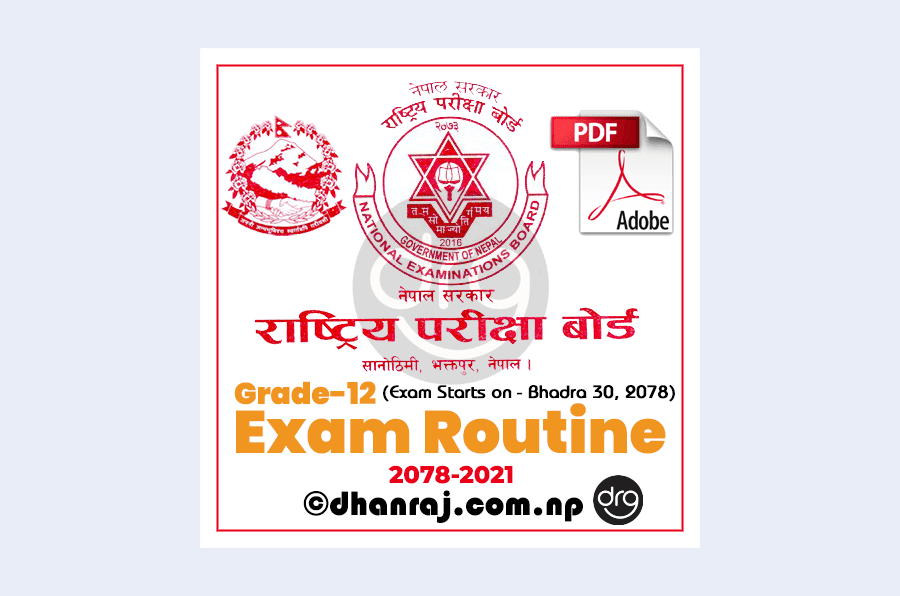 NEB-Class-12-New-Exam-Routine-for-the-year-2078-2021-will-be-conducted-on-30-Bhadra-8-Ashoj-2078-Download-PDF
