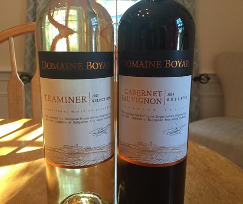 Domaine Boyar Selection Traminer 2015 & Domaine Boyar Reserve Cabernet Sauvignon 2014