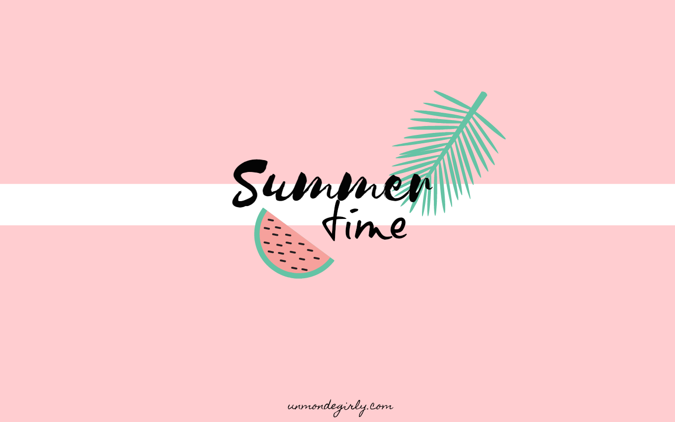 Wallpaper 2 summer time for Image fond ecran ordinateur