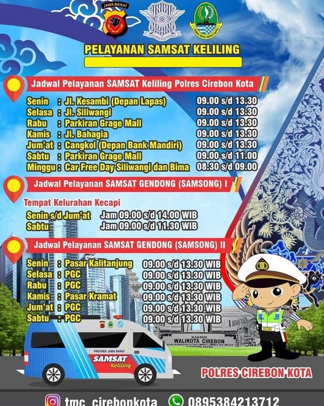 Jadwal Lengkap SIM Keliling Cirebon - IGtmc_cirebonkota