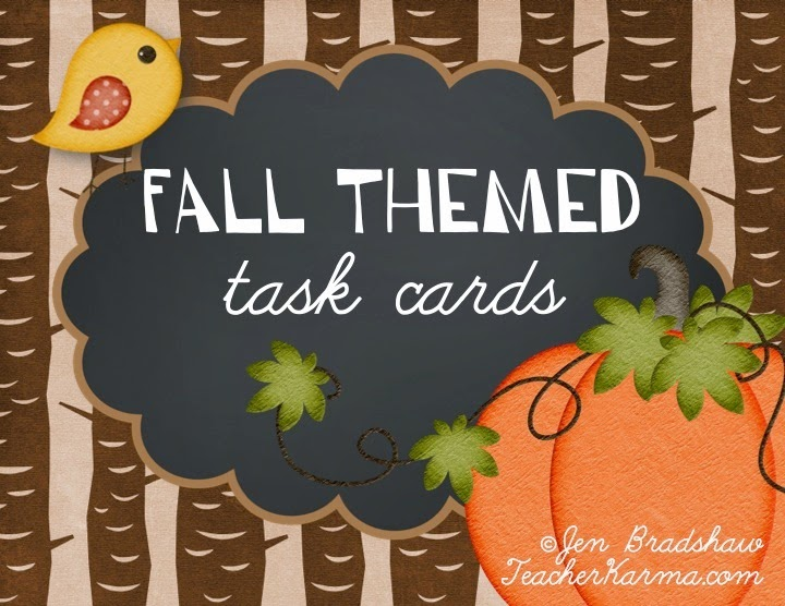 Fall FUN task cards. teacherkarma.com