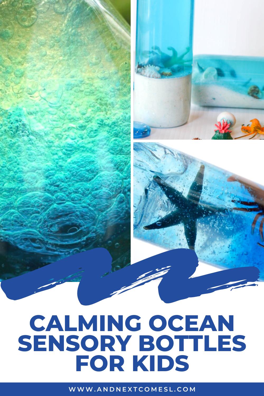 How to make DIY ocean sensory bottles for kids
