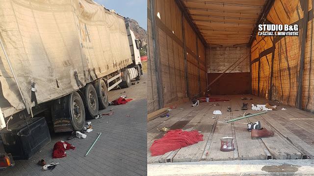 Απίστευτες εικόνες από κατάληψη ρεμούλκας φορτηγού στο Ναύπλιο από Ρομά (βίντεο)