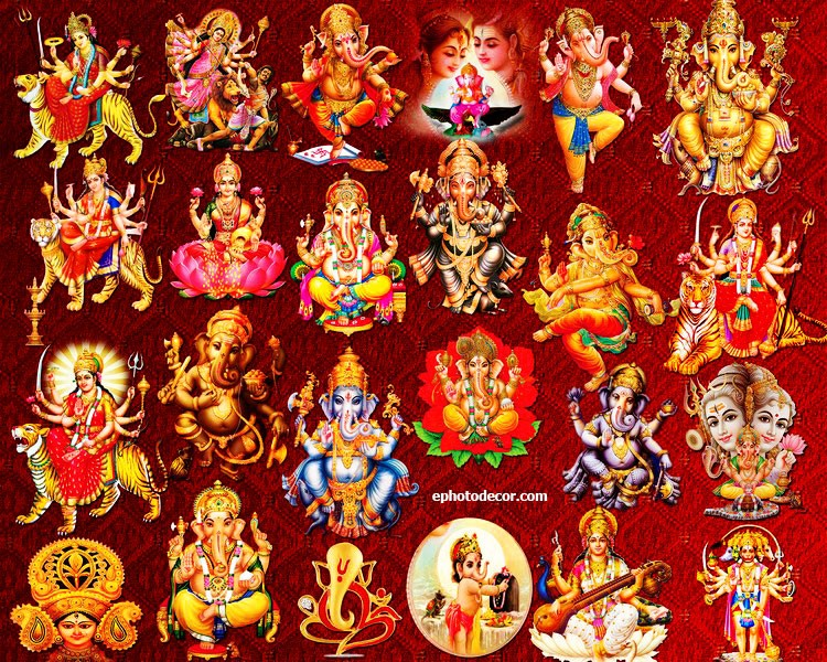 Hindu God-Goddess clipart PSD free pictures