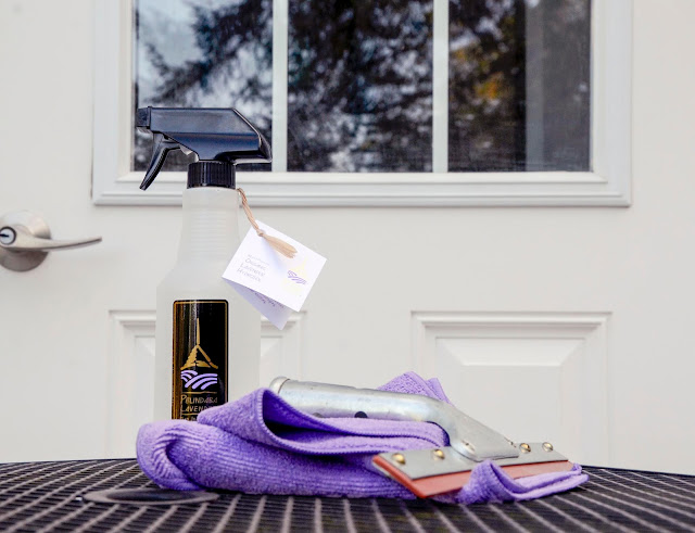 Non-Toxic Window Cleaning with Lavender Hydrosol
