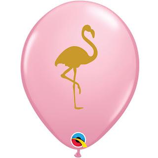 Латексные воздушные шарики с Фламиго