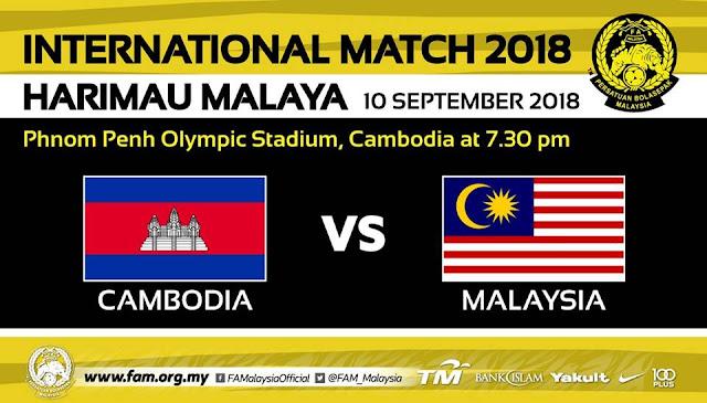 Live Streaming Malaysia vs Cambodia 10.9.2018
