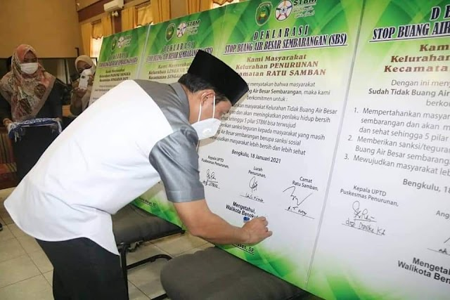 Deklarasikan Kelurahan SBS, Wawali Dedy Targetkan Kota Bengkulu Kembali Raih Swasti Saba Wistara