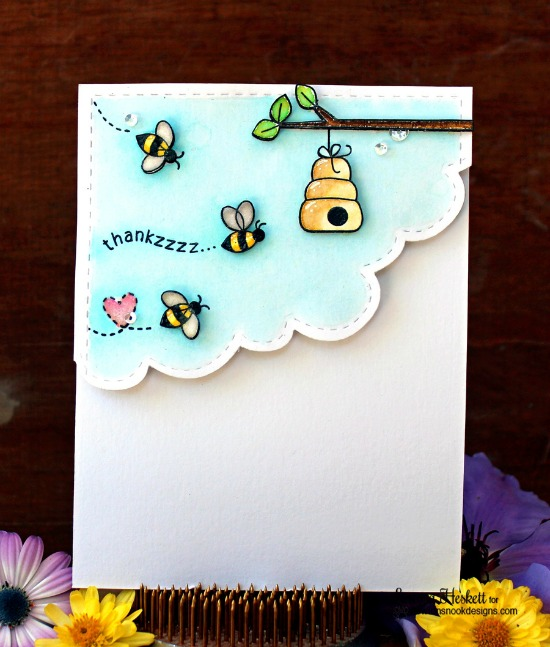 Thankzzzz Card by Larissa Heskett | Winston's Honeybees Stamp set by Newton's Nook Designs #newtonsook