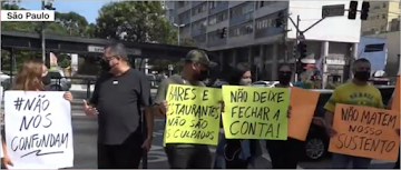 SP: Comerciantes protestam contra as restrições que combate tudo e todos menos Covid-19