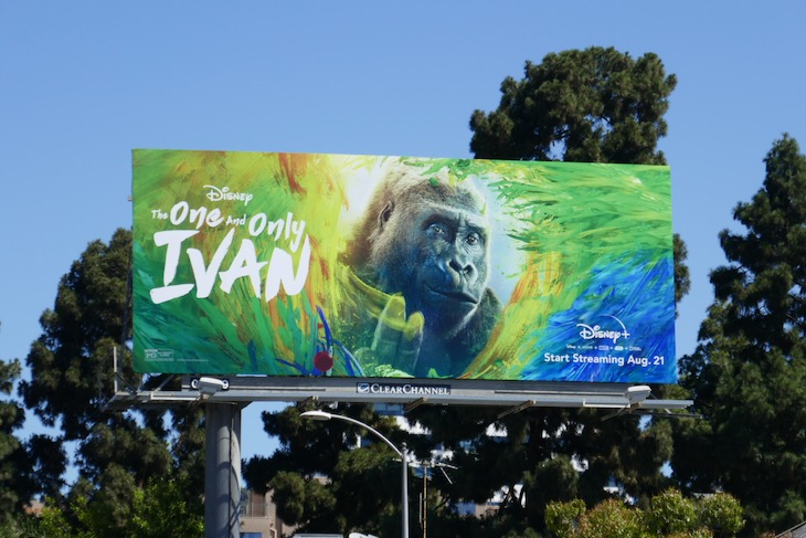 One and Only Ivan Disney billboard