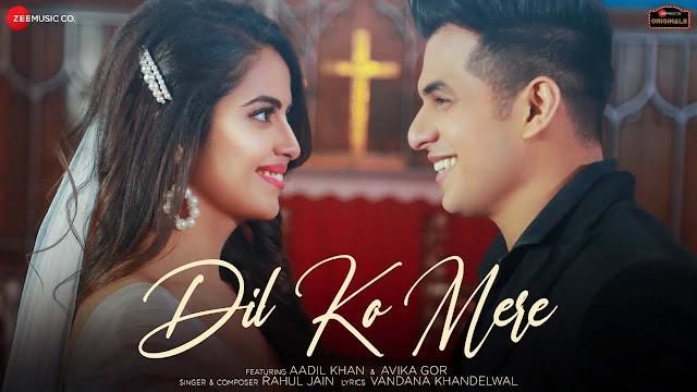 Dil Ko Mere Lyrics - Rahul Jain   Aadil Khan & Avika Gor